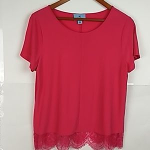 CeCe Hot Pink Woman's Top